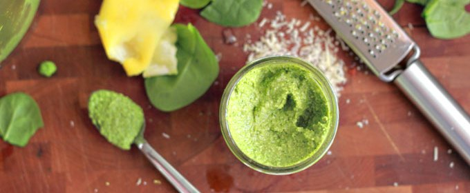 Spinach Pesto: Summer Salad Pesto