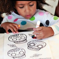 Mexican Day of the Dead With Kid Art (Free Printable)