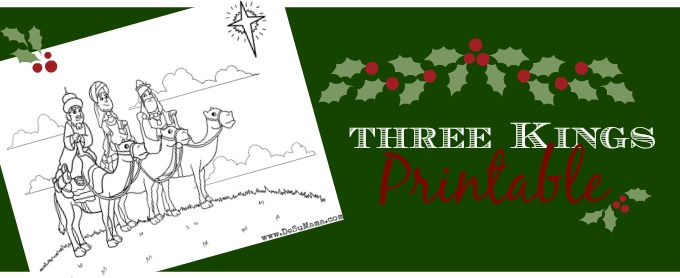 Three wise men,three kings printable, tres reyes mago, meaning of christmas, free christmas printable, preschool christmas printable