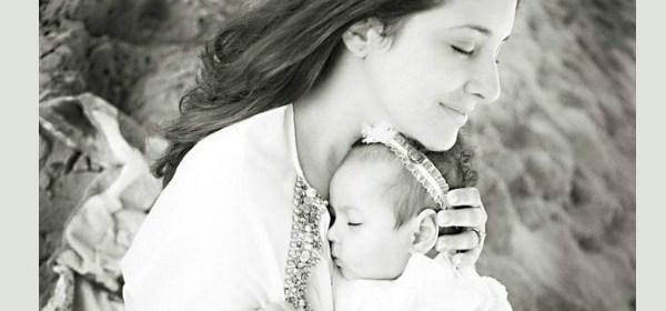 latina mom with baby
