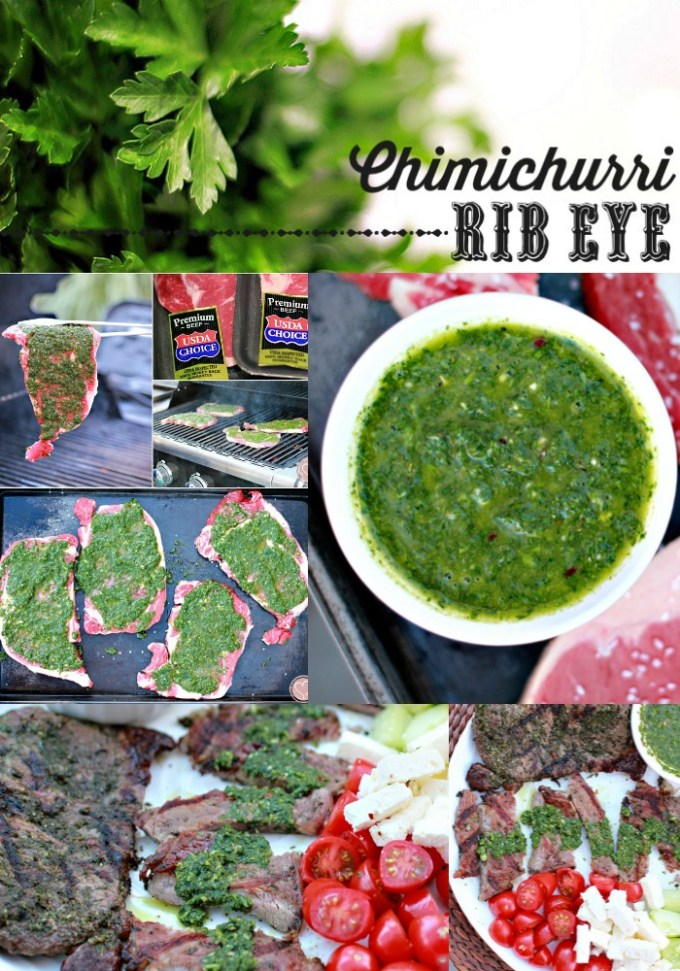 Chimichurri Recipe on Rib Eye Steak