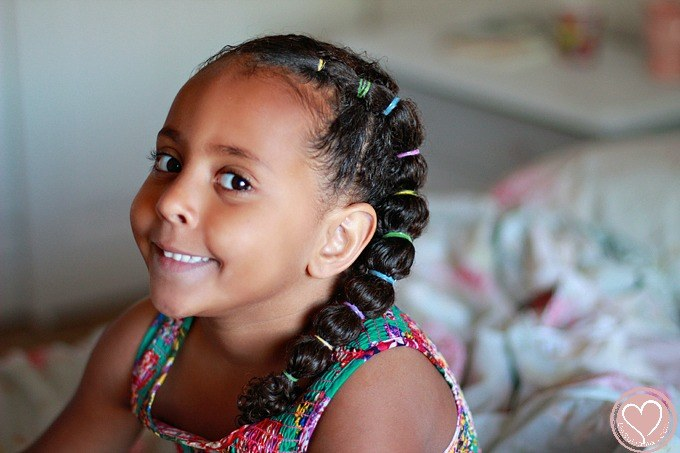 Mixed Girls Hair Styles: Pretty Side Banded Ponytail: Curly Mixed Hairstyles