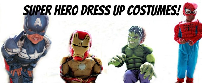 Superhero Costumes for Dress Up… And Halloween