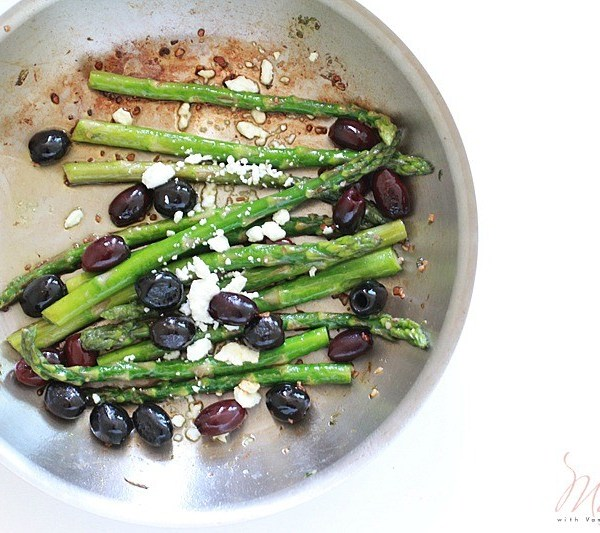 Roasted Asparagus and Olive with Feta Recipe: Simple Side Dish