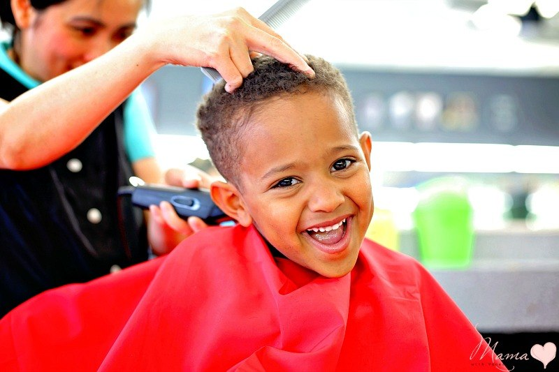 how to cut curly hair for a boy