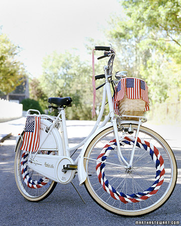 4th of July Bicycle Decorations
