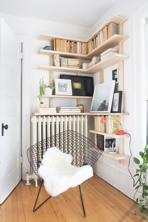 Medium Of Corner Bookshelf Modern