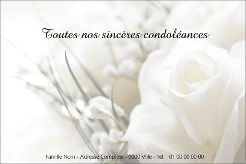 Carte Condoleances Modeles Et Exemples Texte Cartes