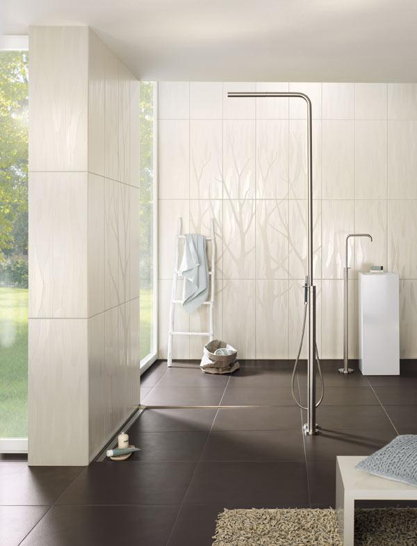 Grenzenloses Duschvergnügen mit einer bodenebenen Dusche - dusche fliesen