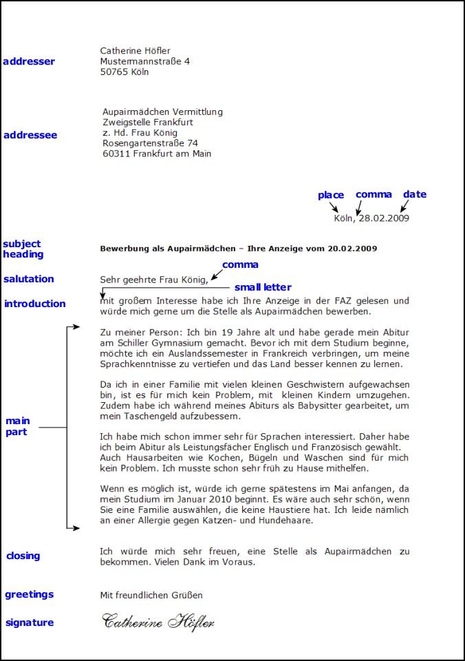 Formal Letter Deutsch | Resume Builder Template