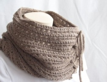 Knitting Pattern Cowl Mokaccino Cowl