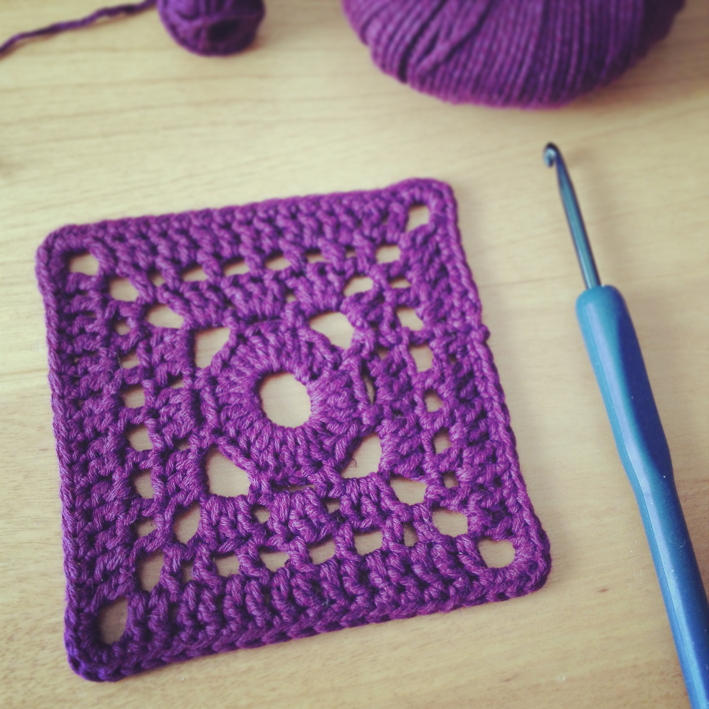 Free Crochet Granny Square Motifs : Another Square Crochet Motif, Not the Granny Square!