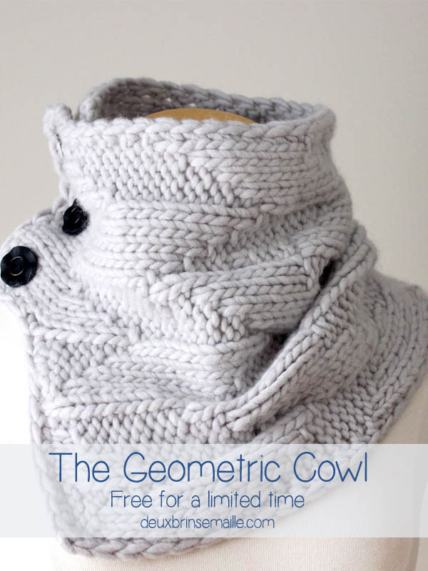 Geometric Cowl - Knitting Pattern