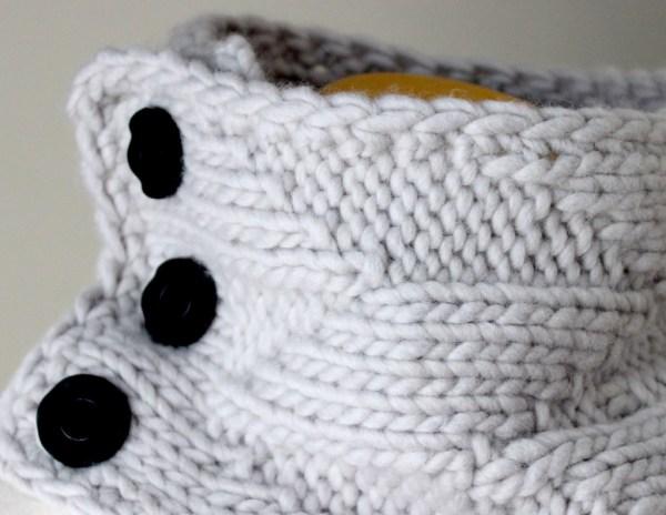 Knitting Pattern Geometric Cowl Deux Brins de Maille 3