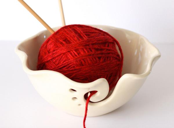 Inspiration Etsy Yarn Cream Bowl