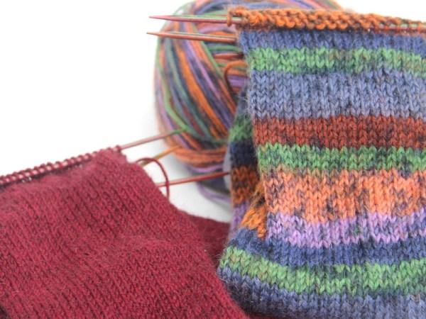 Knitting Socks 2 pairs