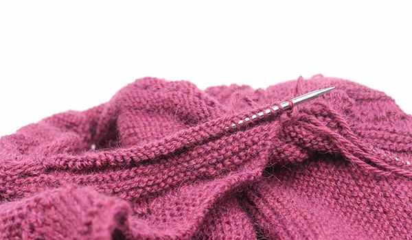 Work In Progress For a New Knitting Shawl With Knit Through The Back Loop