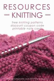 Resources Knitting | Deux Brins de Maille
