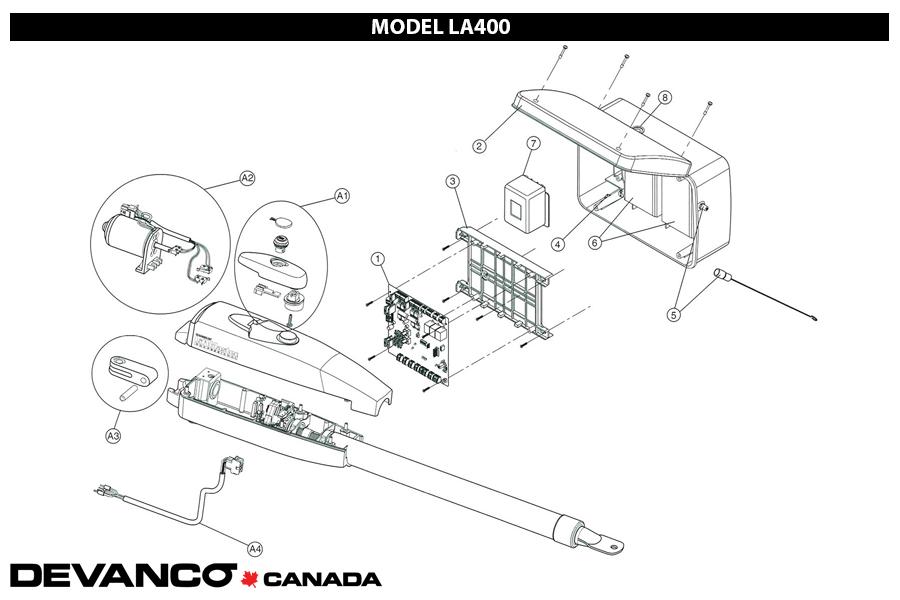 liftmaster la400 parts diagram
