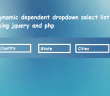 Dynamic dependent dropdown select list using jquery and php