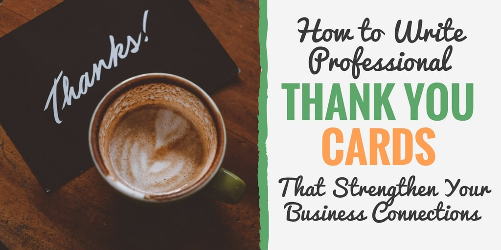 How to write professional Thank You Cards - Strengthen Business