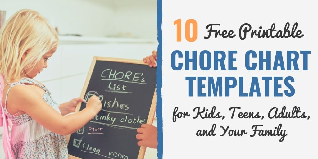 10 Free Printable Chore Chart Templates for Kids, Teens, Adults, and