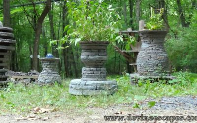 New Dry Stone Sculpture, the face cup illusion