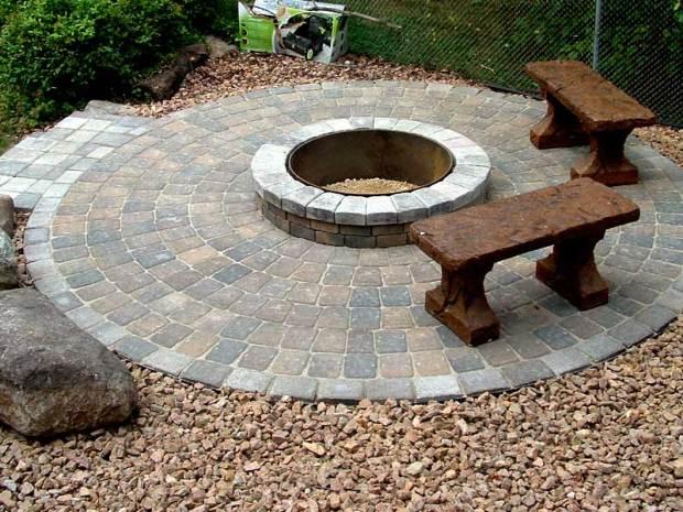 stone fire pit ideas rosemount design