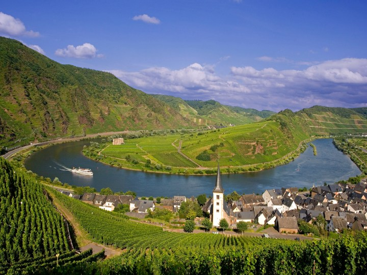 July 2007, Bremm, Germany --- Village of Bremm on the Moselle River --- Image by © Jose Fuste Raga/Corbis