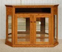 Short Angled Corner Curio Cabinet - De Vries Woodcrafters
