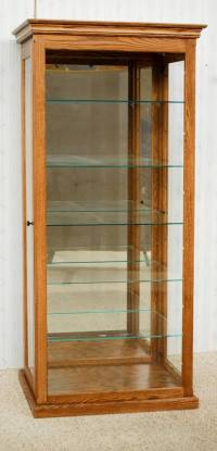 Tall Curio Cabinet - De Vries Woodcrafters