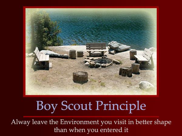 Boy Scout Principle