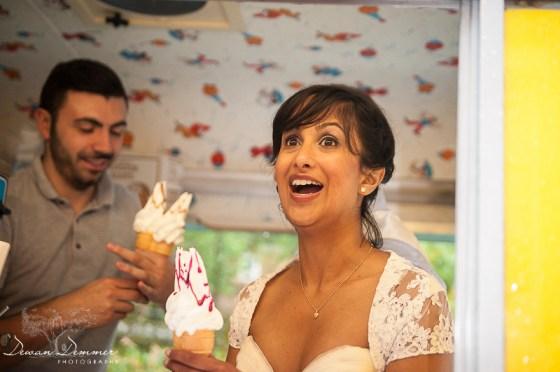 Bride Serves IceCream at BlackHeath