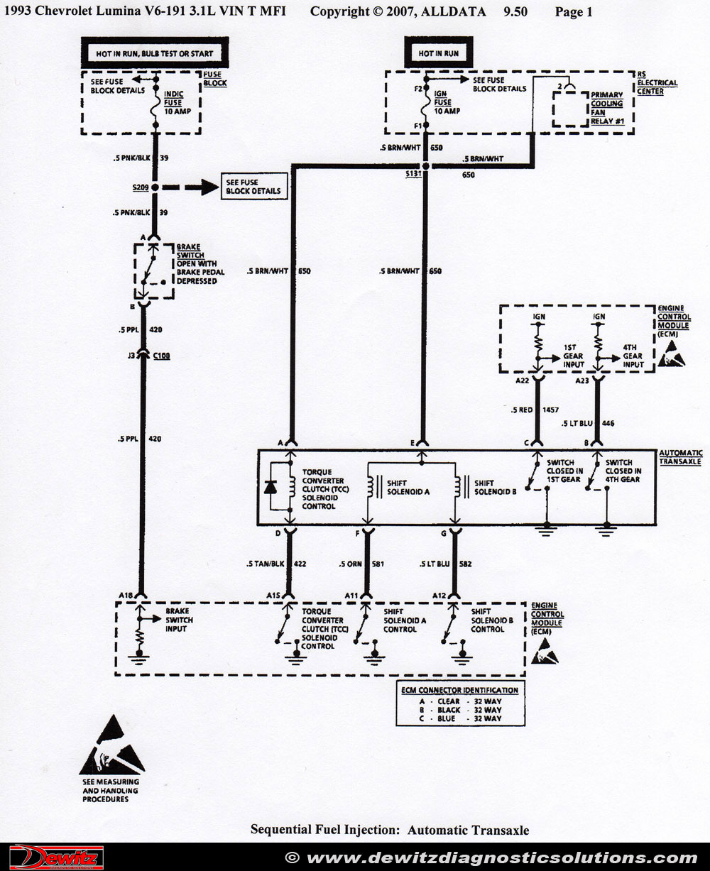 1993 gmc transmission diagram