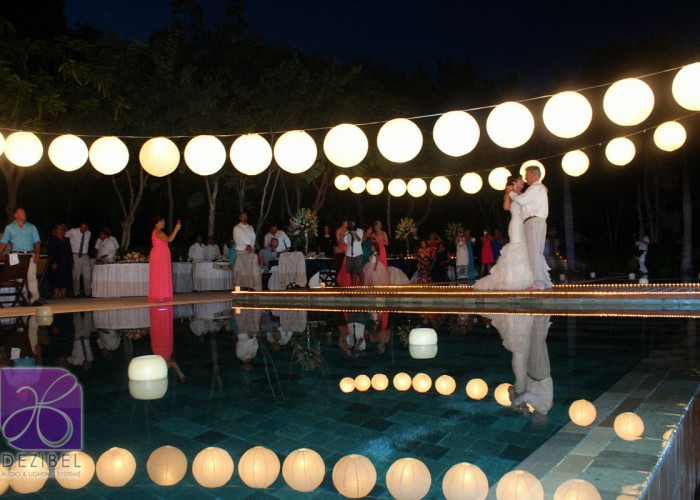 Wedding cancun-Planners-chinese paper lamps-outdoor-46
