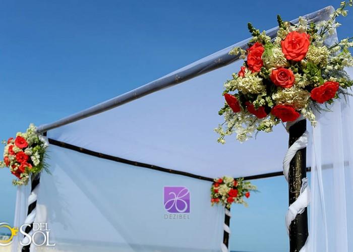 gazebo decor by dezibel wedding florist