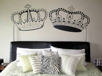 A crown affair wall decals, decor by juliana
