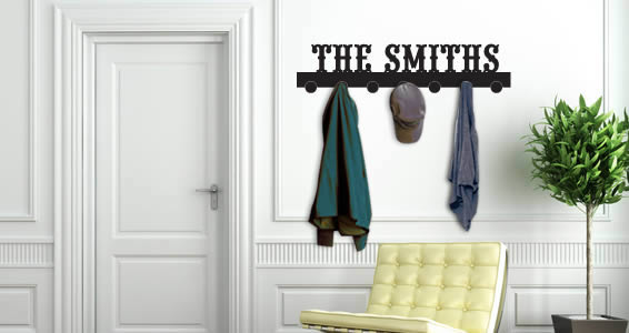 Personalized Lettering Coat Rack Wall Decals Dezign With A Z