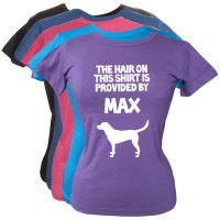 Ladies Personalised T-Shirt | Funny Dog Hair Slogan