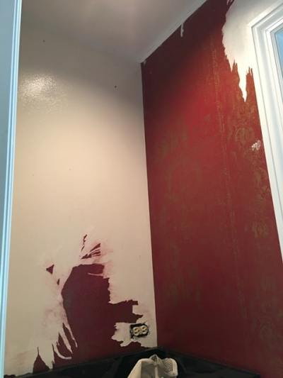 How to Paint over Wallpaper That Won't Come Off - Dfranco Finishes