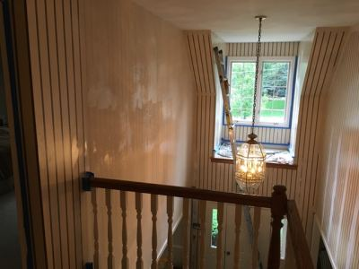 How to Paint over Wallpaper That Won't Come Off - Dfranco Finishes