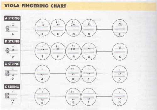 Hertzberg, David \/ Reading Music - violin fingering chart