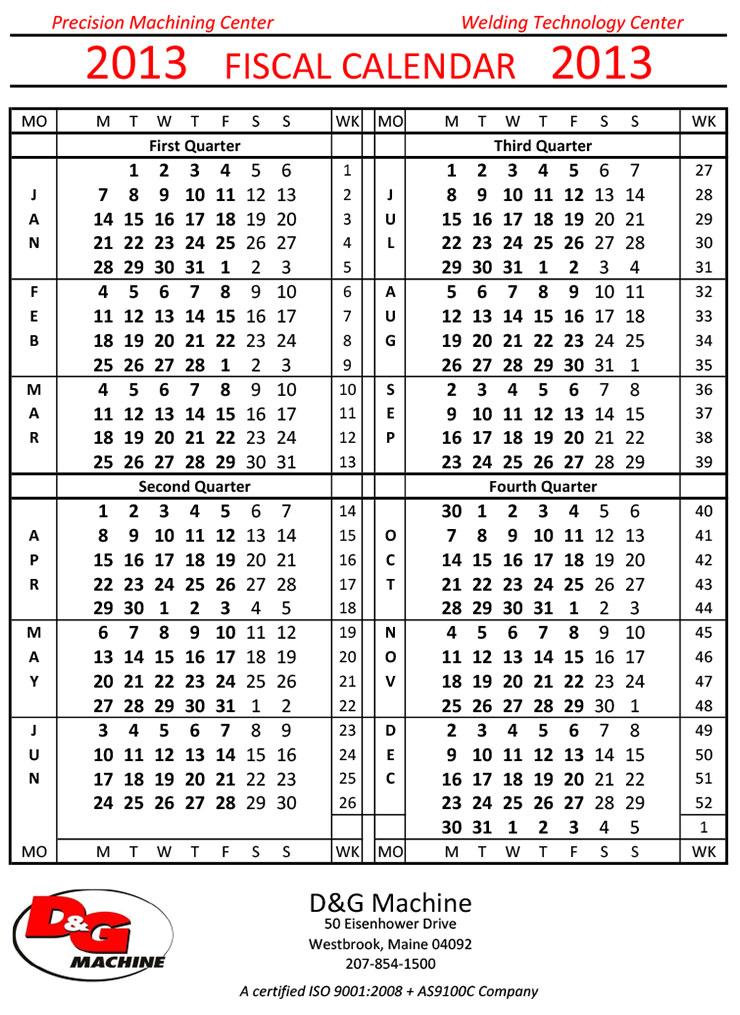 Fiscal Calendar oakandale