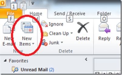 how to find personal folders in outlook 2010