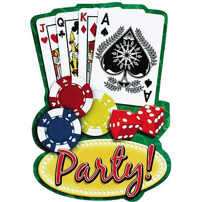 Casino Party Invitation Cards (Pack Of 20) - DholDhamaka