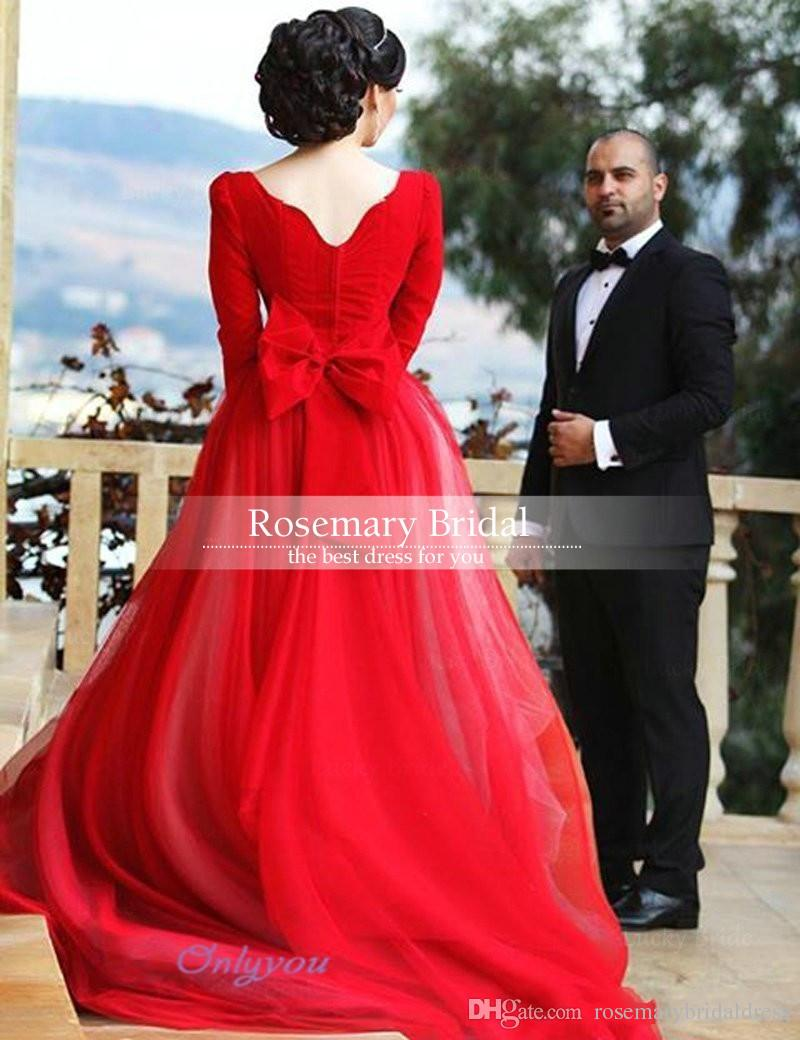Calmly Amelia Sposa 2016 Cheap Long Sleeves Wedding Dresses Backless Redbridal Gowns Sexy Discount Amelia Sposa 2016 Cheap Long Sleeves Wedding Dresses Red Wedding Dress Ideas Red Wedding Dresses 2018 wedding dress Red Wedding Dress