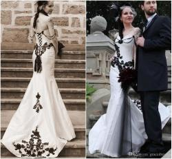 Small Of Black And White Wedding Dresses