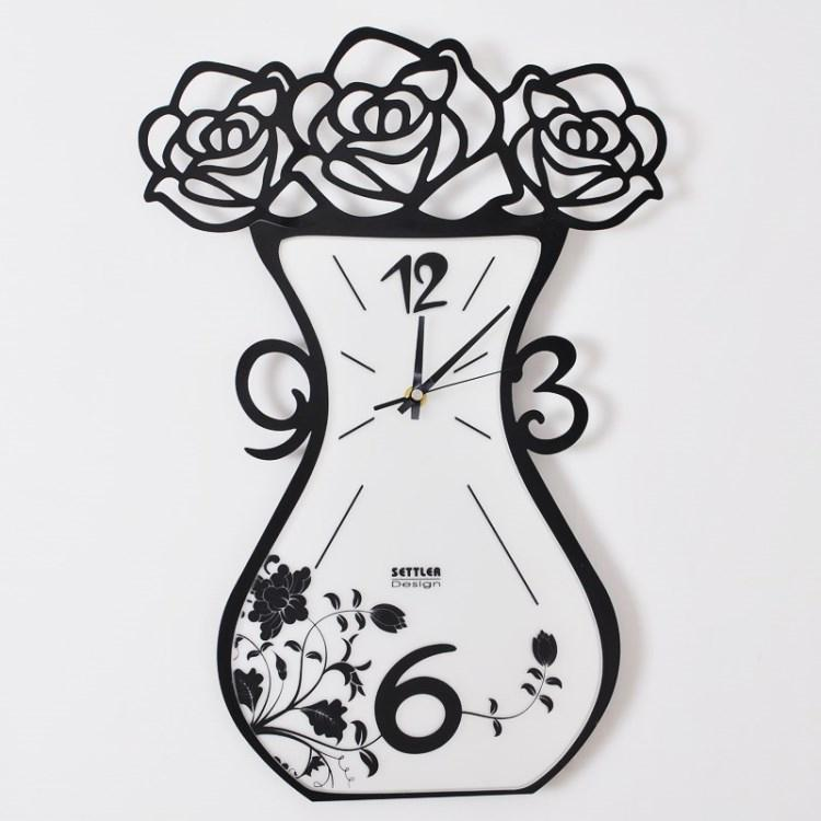 Creative Living Room Wall Clock Mute Hanging Watch Fashion Digital - living room clock