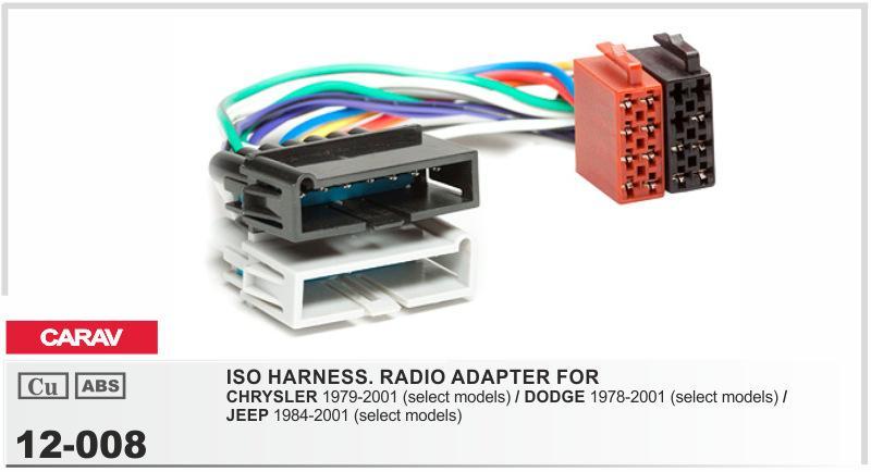 Dodge Radio Wiring Harness Adapter Radio Wiring Harness Product