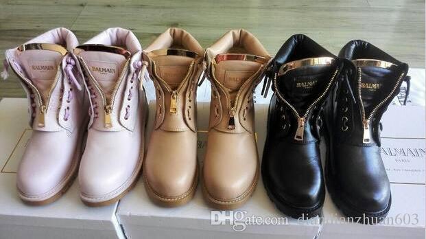 2016 Balmain Shose Women Ankle Motorcycle Balmain Boots